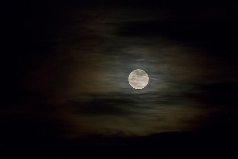 Moonrise, Parker, Colorado.  December 2017