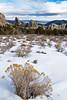 Morning Glory Spire, Jim Sage Mountains, Anteater, City of Rocks National Reserve, Idaho.  January 2015