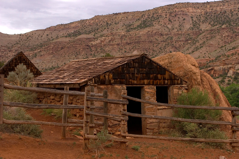 Capt. H.A. Smith's cabin in Escalante Canyon, Utah.  May 2005
