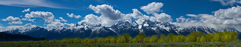 Teton Range, Grand Teton National Park, Wyoming.  May 2015