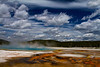 Rainbow Pool, Black Sand Basin, Yellowstone National Park, Wyoming.  May 2015