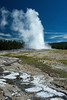 Old Faithful cone geyser, Yellowstone National Park, Wyoming.  July 2007