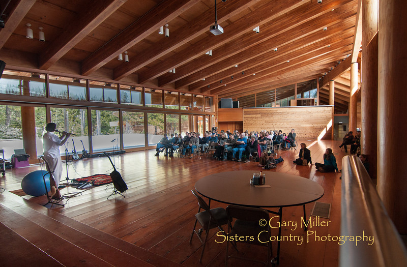 Sean Frenette - Artist in Residence Showcase - Camp Caldera, Blue Lake, Sisters, Oregon - March 2012 - Gary N. Miller, Sisters Country Photography