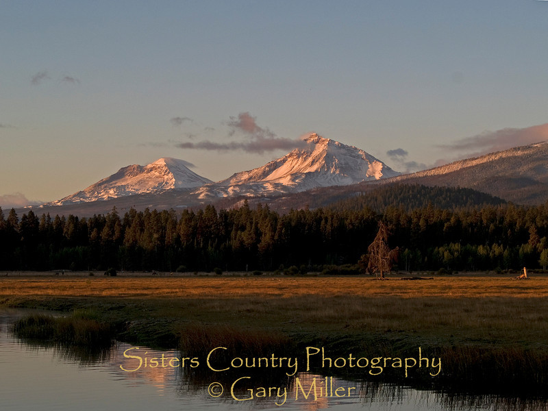 The Three Sisters in the Central Cascades from Black Butte Ranch - Sisters, Or - Sisters Country Photography