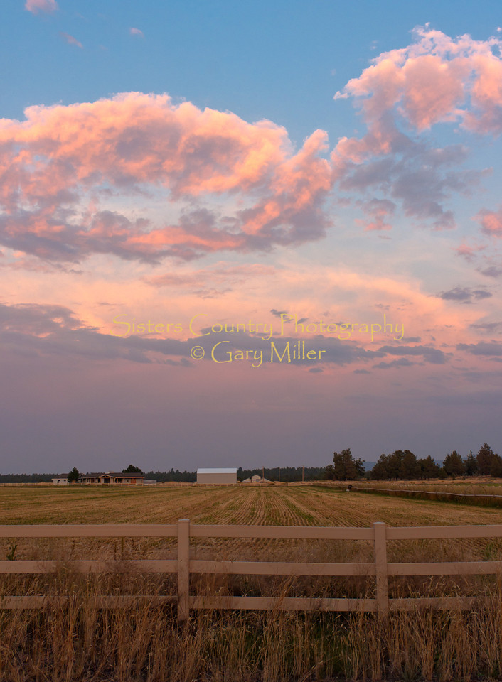 Storm to the east from George Cyrus Road in the Cloverdale area of Sisters Country - Photo by Gary N. Miller - Sisters Country Photography