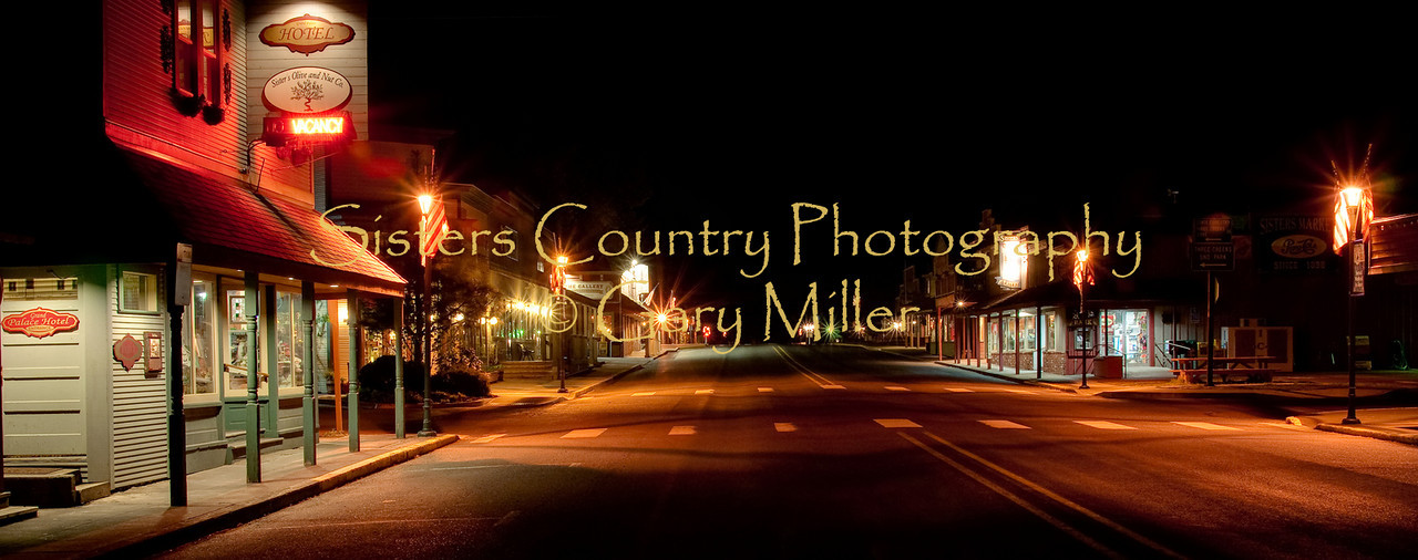 Sisters Oregon on a quiet summer night. Gary Miller - Sisters Country Photography