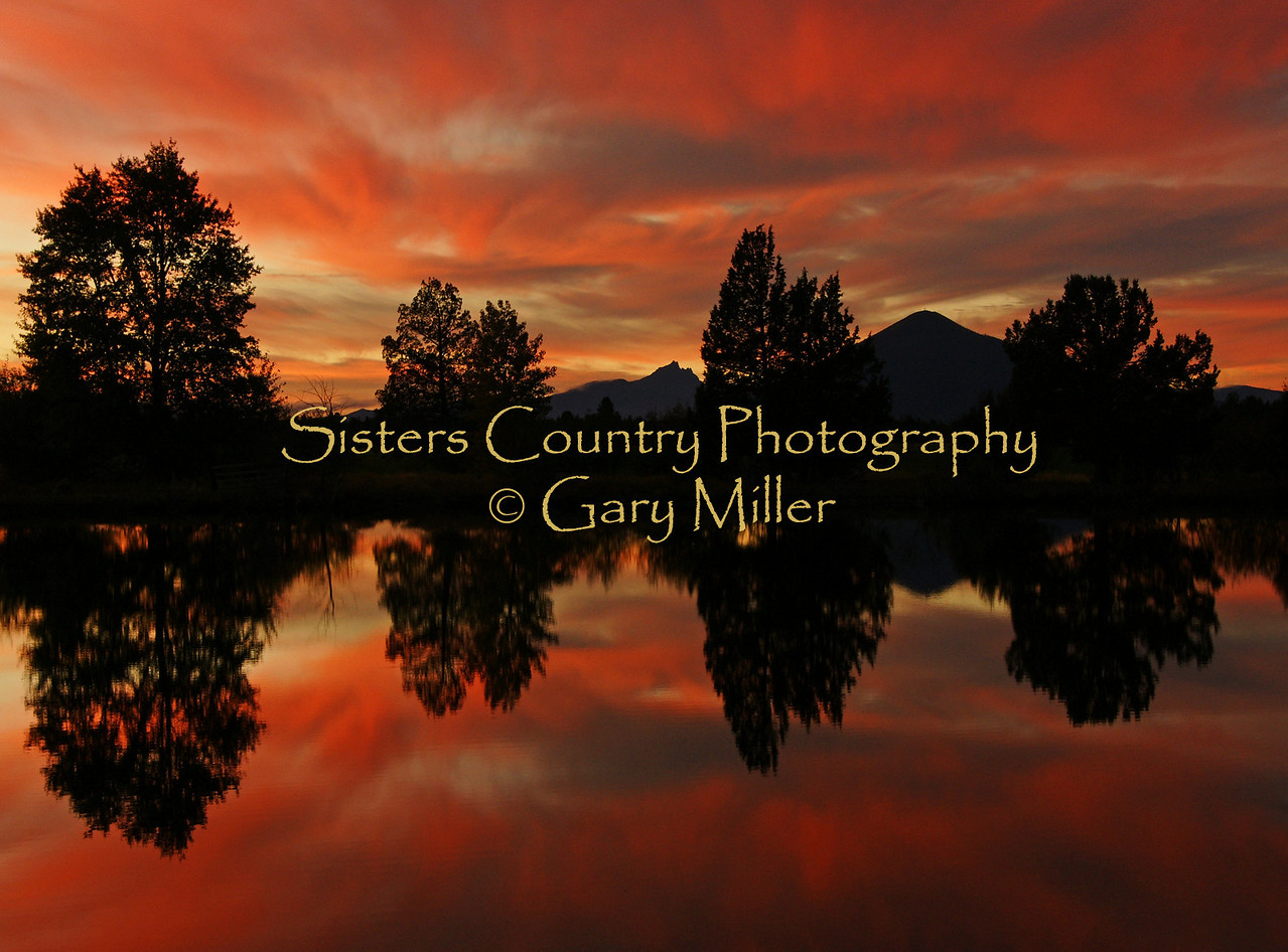 A Sunset Serenade - High Desert of Central Oregon. Gary Miller - Sisters Country Photography