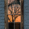 Hill Country Sunset in the Junction Schoolhouse Window