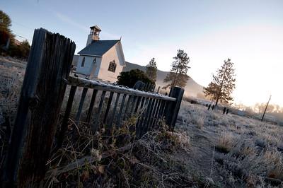 graeyard and church