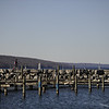 Watkins Glen pier on Seneca Lake.