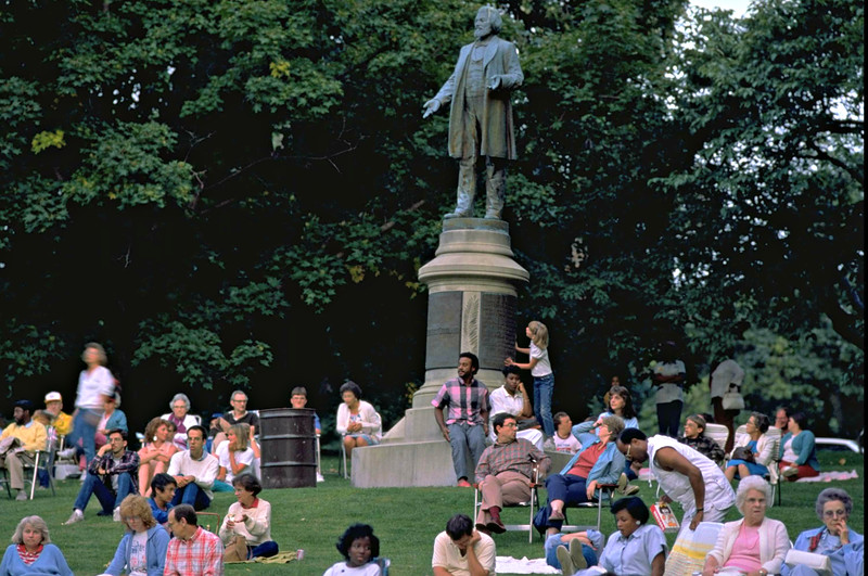 Frederick Douglass Monument.  Please Photo Credit: Communications Bureau, City of Rochester