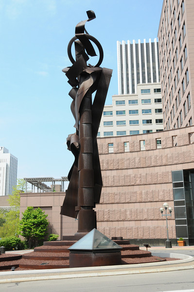 Paley Sculpture at Bausch & Lomb Place -----Please Photo Credit: Communications Bureau, City of Rochester