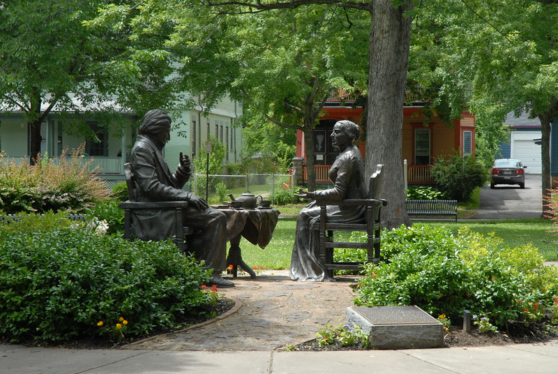 Anthony - Douglass Sculpture.  Please Photo Credit: Communications Bureau, City of Rochester