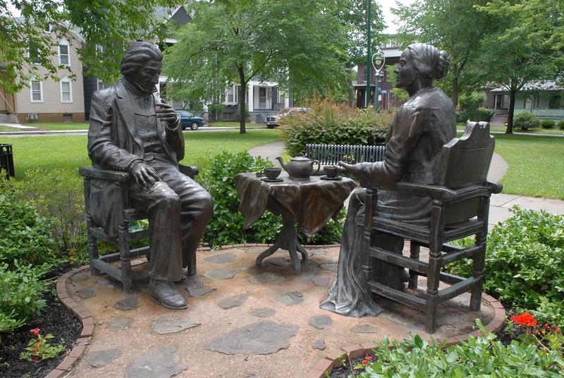 Anthony - Douglass Sculpture.  Please Photo Credit: Communications Bureau, City of Rochester
