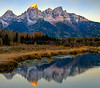 Grand Tetons in the sunrise
