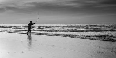 Fly fishing at Sunrise.  Coast Guard Beach, Cape Cod.
