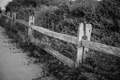 Split rail fence.  Coast Guard Beach, Cape Cod, MA