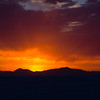 Orange Sunset at the Bonneville Salt Flats