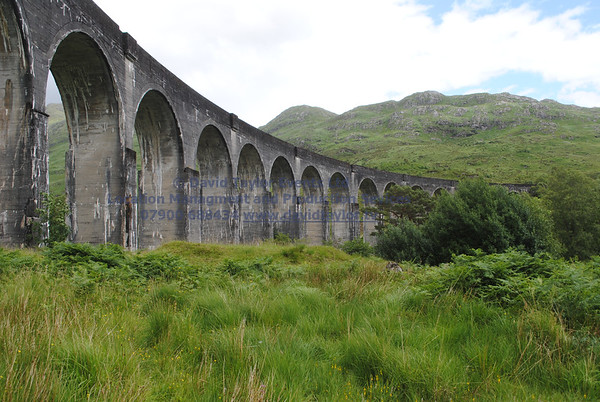 Glenfinnan viaduct (track under bridge 13E) - 3