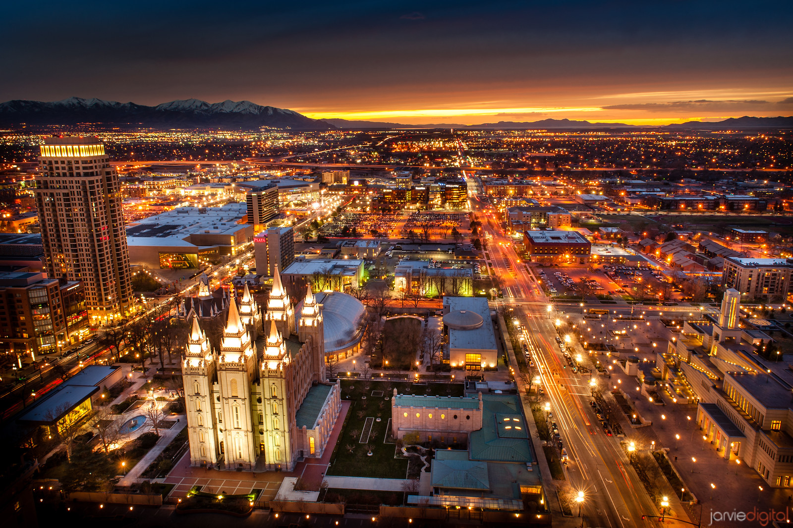Salt Lake Temple and Valley