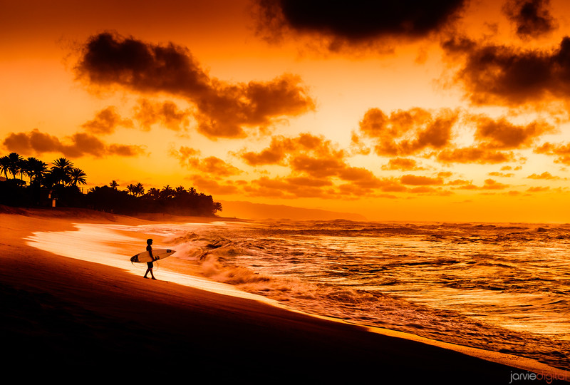 Sunset and the Surfer
