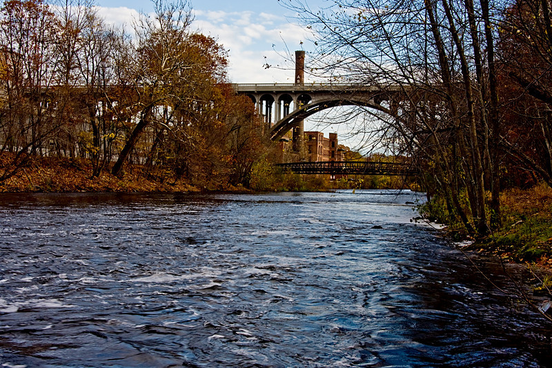 <center>Blackstone River and Rte 122  <br><br>Blackstone Valley Bike Path<br>Cumberland, Rhode Island</center>