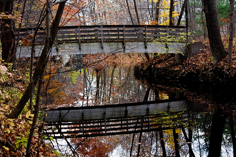 <center>Bridge Reflections  <br><br>Blackstone Valley Bike Path<br>Cumberland, Rhode Island</center>