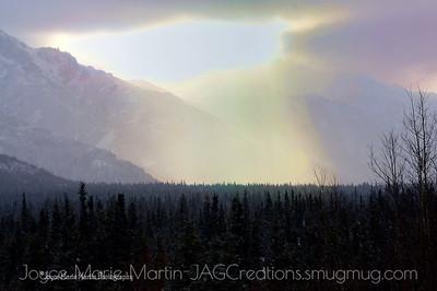 Snow storm North side of Mt. McKinley