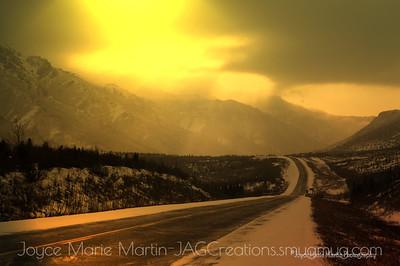 Parks Highway North of Denali National Park.