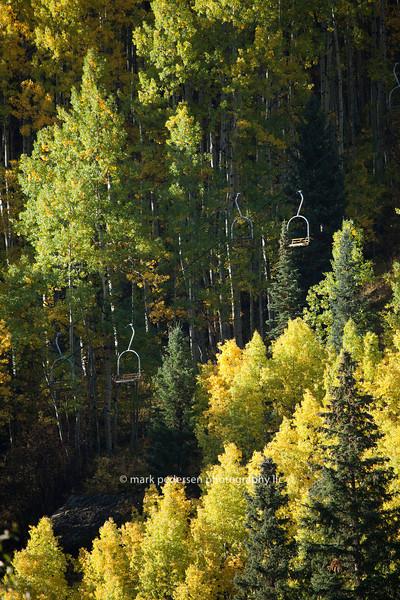 Chair Lift in Telluride Colorado | Fall 2011 | SWCO # 003
