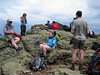 <center>Franconia Loop Hike -- 22 May 2010<br>New England Hiking Group<br><br><b><u>Summit Relaxation  </u></b><br><br>The group spent some time at the summit of Little Haystack enjoying lunch and some spectacular views.  </center>