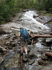 <center>Franconia Loop Hike -- 22 May 2010<br>New England Hiking Group<br><br><b><u>Courtney Crosses  </u></b><br><br>Here's Courtney crossing the last of the streams.  </center>