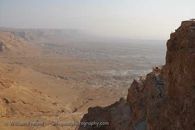 View to the North from Masada, Israel.