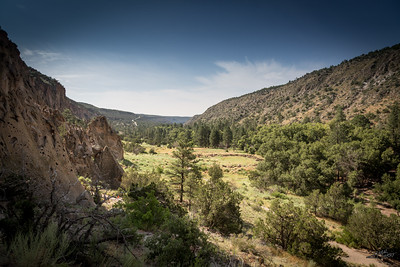 Valley in Bandelier National Monument