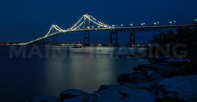 The Newport Bridge, from Jamestown, RI.  0699