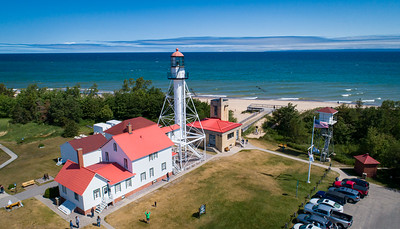 The old lighthouse at Whitefish Point in the UP of Michigan 7.30.19