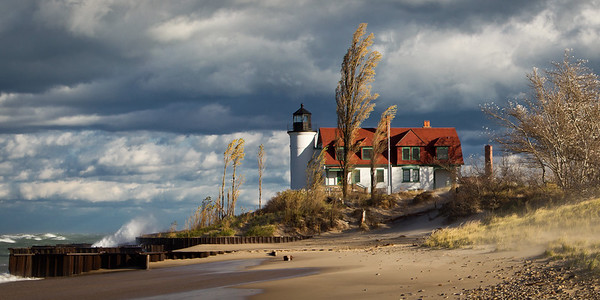Point Betsie Lighthouse in Frankfort, MI along the Sleeping Bear Dunes National Lakeshore on 10.28.2010
