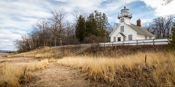 Old Mission Lighthouse near Traverse City, Michigan. 12.24.15.