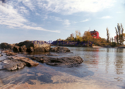 Light house from McCarty's Cove, Marquette, Michigan