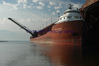 """The """"Kay E. Barker"""" at the LS&I dock in north Marquette, Michigan"""