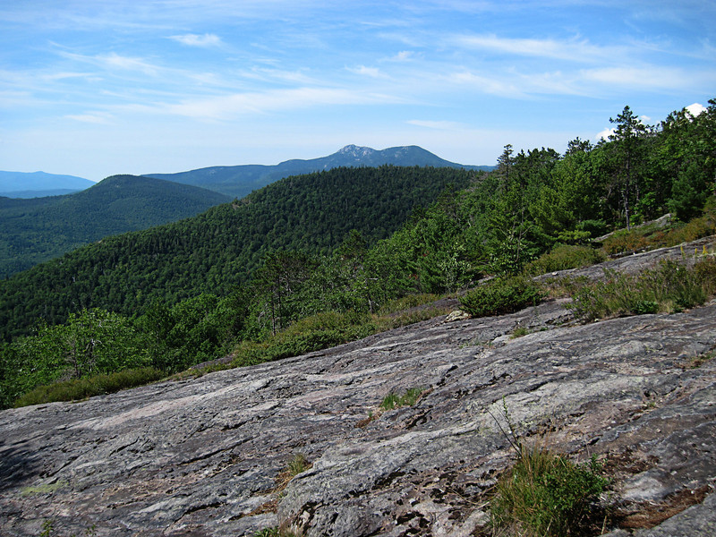 <center>South and Middle Moat - 14 August 2010<br>New England Over 50 Hiking Group<br><br>Mount Chocorua  <br><br>The bare summit of Mount Chocorua is prominent in the background.  </center>
