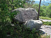 <center>South and Middle Moat - 14 August 2010<br>New England Over 50 Hiking Group<br><br>Granite Boulders <br><br>These granite boulders stand in tribute to the regions glacial past.  </center>