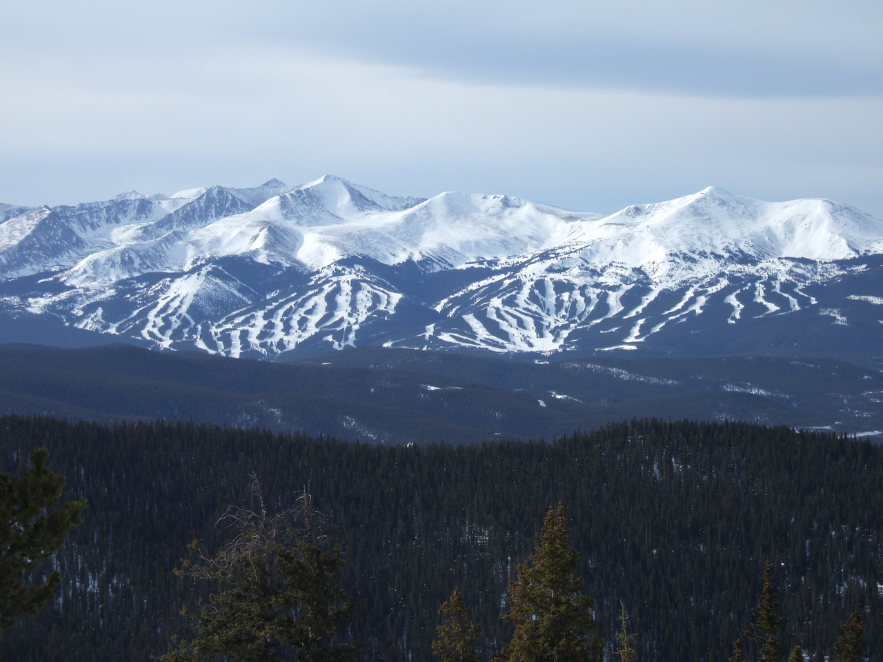 A look at Breckenridge from Keystone