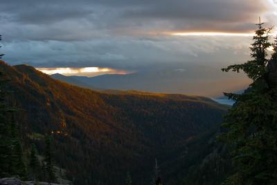 Sunset after the Storm, Glacier National Park