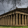The Parthenon in Nashville is the only life sized replica of the original in the world. Built for the Tennessee Centennial Celebration in 1897 the Parthenon was one of several building erected in Centennial Park. These structures were built with brick and lattice which were designed to last during the celebration and be torn down afterwards. Due to its popularity they decided to re-build the Parthenon as seen today.