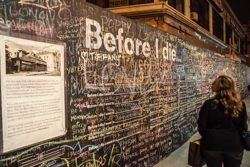 Before I Die wall. Brooklyn, New York