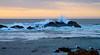 Sunset at the ocean.  17 Mile Drive, Carmel, CA