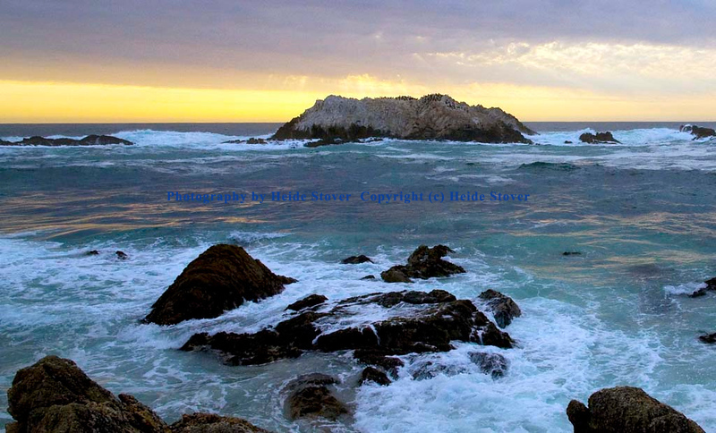 Sunset at Bird Rock. Carmel, CA