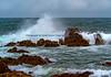 Crashing waves off 17 Mile Drive, California