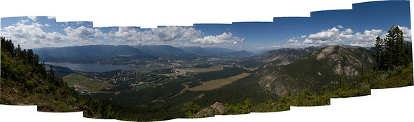 View from the para- and hang gliding launch site atop Mt Swansea near Invermere, BC, Canada. August 2011